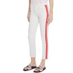 NWT! Mother The Dazzler Mid Rise Crop Slim Jeans